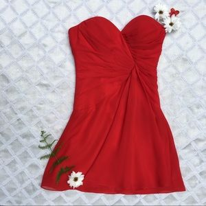 Faviana Red Short Prom or Homecoming Dress